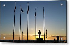 Sunrise At The Firefighters Memorial Acrylic Print
