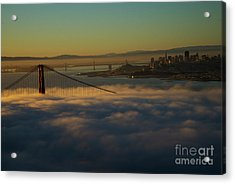 Acrylic Print featuring the photograph Sunrise At The Golden Gate by David Bearden