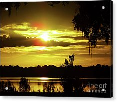Sunrise At The Lake Acrylic Print by D Hackett