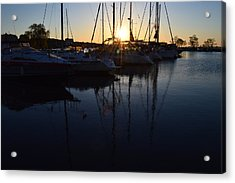 Sunrise At The Marina  Acrylic Print