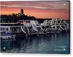 Lake Murray Sunrise At The Marina Acrylic Print by Tamyra Ayles