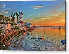 Sunrise At The Pier Acrylic Print
