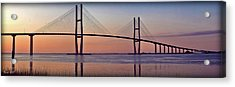 Sunrise At The Sidney Lanier Bridge Acrylic Print