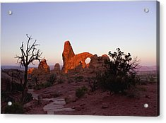 Sunrise At Tower Arch Acrylic Print