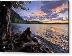 Acrylic Print featuring the photograph Sunrise At Waterton Lakes by Dan Jurak