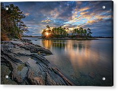 Acrylic Print featuring the photograph Sunrise At Wolfe's Neck Woods by Rick Berk