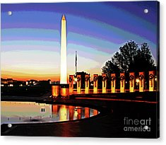 Sunrise At Wwii Memorial Acrylic Print