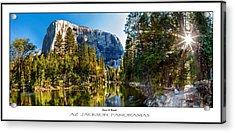 Sunrise At Yosemite Poster Print Acrylic Print by Az Jackson