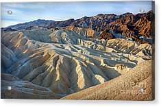 Sunrise At Zabriskie Point Acrylic Print