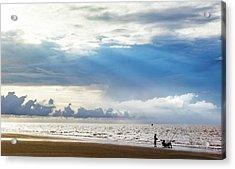 Sunrise Beach Fishing Acrylic Print