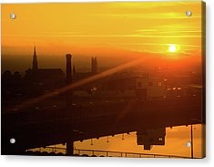 Sunset Belfast Acrylic Print