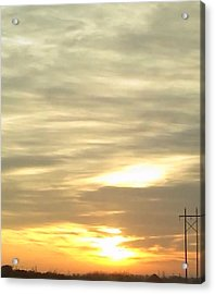 Sunrise Beneath The Clouds Acrylic Print by Brittany Pierson