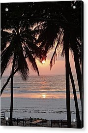 Sunrise Between The Coconut Palms 2 Acrylic Print