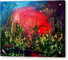 Sunrise Blooming Acrylic Print by Ellen Seymour