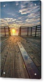 Sunrise Boardwalk Acrylic Print