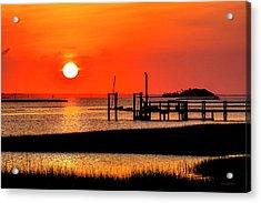 Sunrise - Bogue Sound Acrylic Print