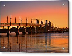 Sunrise Bridge Of Lions Acrylic Print