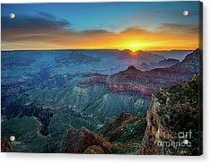 Sunrise Canyon Acrylic Print by Jamie Pham