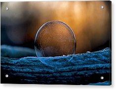 Sunrise Capture In Bubble Acrylic Print