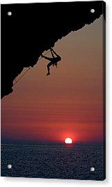 Sunrise Climber Acrylic Print by Neil Buchan-Grant