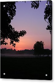 Sunrise Colors Acrylic Print by Warren Thompson