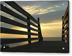 Sunrise Acrylic Print by David Stasiak
