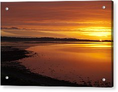 Sunrise Dornoch Firth Scotland Acrylic Print by Sally Ross