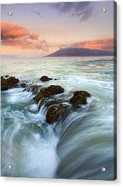 Sunrise Drain Acrylic Print by Mike  Dawson