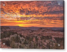 Acrylic Print featuring the photograph Sunrise Explosion by Stephen  Vecchiotti