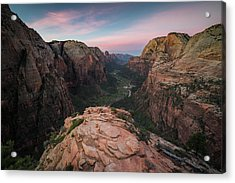 Sunrise From Angels Landing Acrylic Print