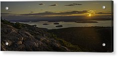 Sunrise From Cadillac Mountain Acrylic Print