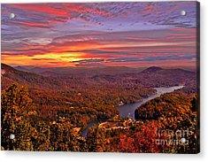 Sunrise From Chimney Rock Acrylic Print by Jeff McJunkin