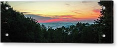Acrylic Print featuring the photograph Sunrise From Maggie Valley August 16 2015 by D K Wall
