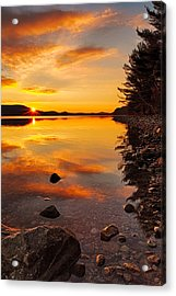 Sunrise From Old Enfield Road -quabbin Gate 5 Acrylic Print by Stephen Gingold