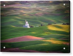 Sunrise From Steptoe Butte. Acrylic Print