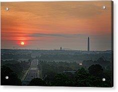 Acrylic Print featuring the photograph Sunrise From The Arlington House by Cindy Lark Hartman