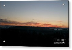 Acrylic Print featuring the photograph Sunrise From The Midnight Train To Moscow by Robert D McBain