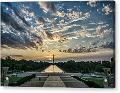 Sunrise From The Steps Of The Lincoln Memorial In Washington, Dc  Acrylic Print