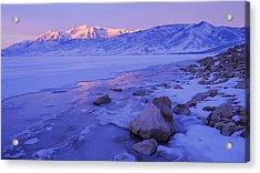 Sunrise Ice Reflection Acrylic Print by Chad Dutson