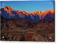 Sunrise Illuminating The Sierra Acrylic Print