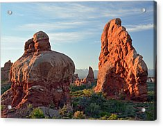 Acrylic Print featuring the photograph Sunrise In Arches National Park by Bruce Gourley