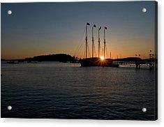 Sunrise In Bar Harbor Acrylic Print
