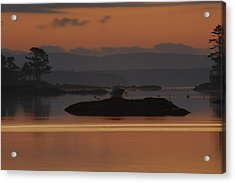 Acrylic Print featuring the photograph Sunrise In Blue Hill I by Greg DeBeck