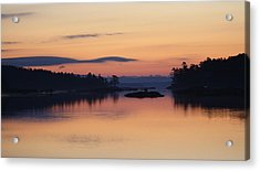 Acrylic Print featuring the photograph Sunrise In Blue Hill IIi by Greg DeBeck