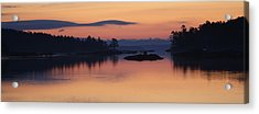 Acrylic Print featuring the photograph Sunrise In Blue Hill Iv by Greg DeBeck