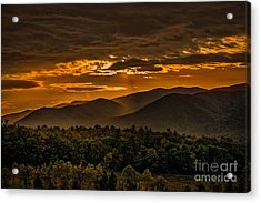 Sunrise In Cades Cove Great Smoky Mountains Tennessee Acrylic Print
