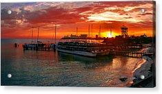 Sunrise In Cancun Acrylic Print