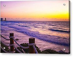 Sunrise In Cancun Acrylic Print