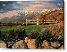 Sunrise In Carson Valley Acrylic Print by James Eddy