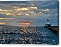 Sunrise In Duluth Acrylic Print